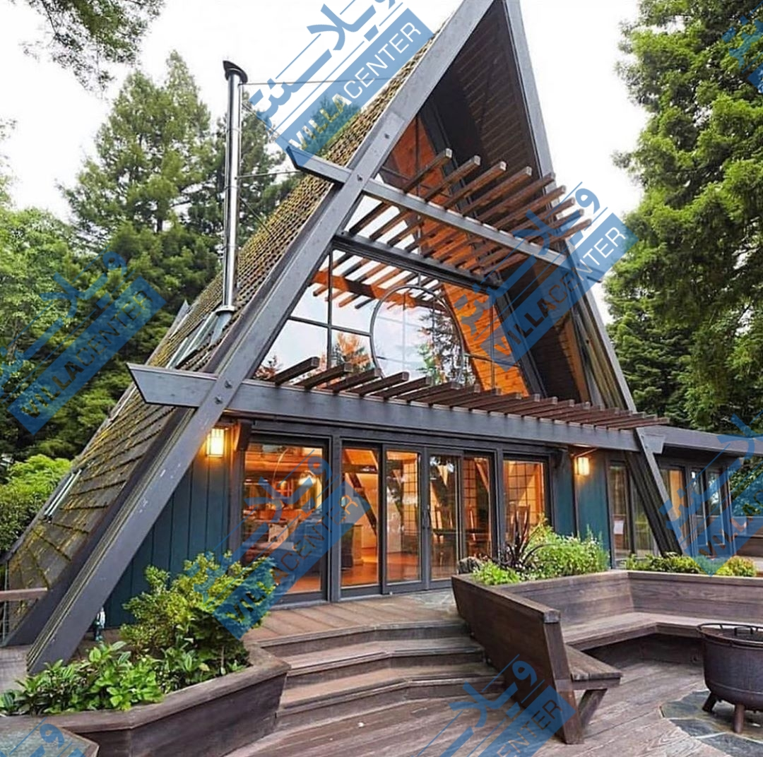 ویلا چوبی طراح سویس مدرن 2 خوابه