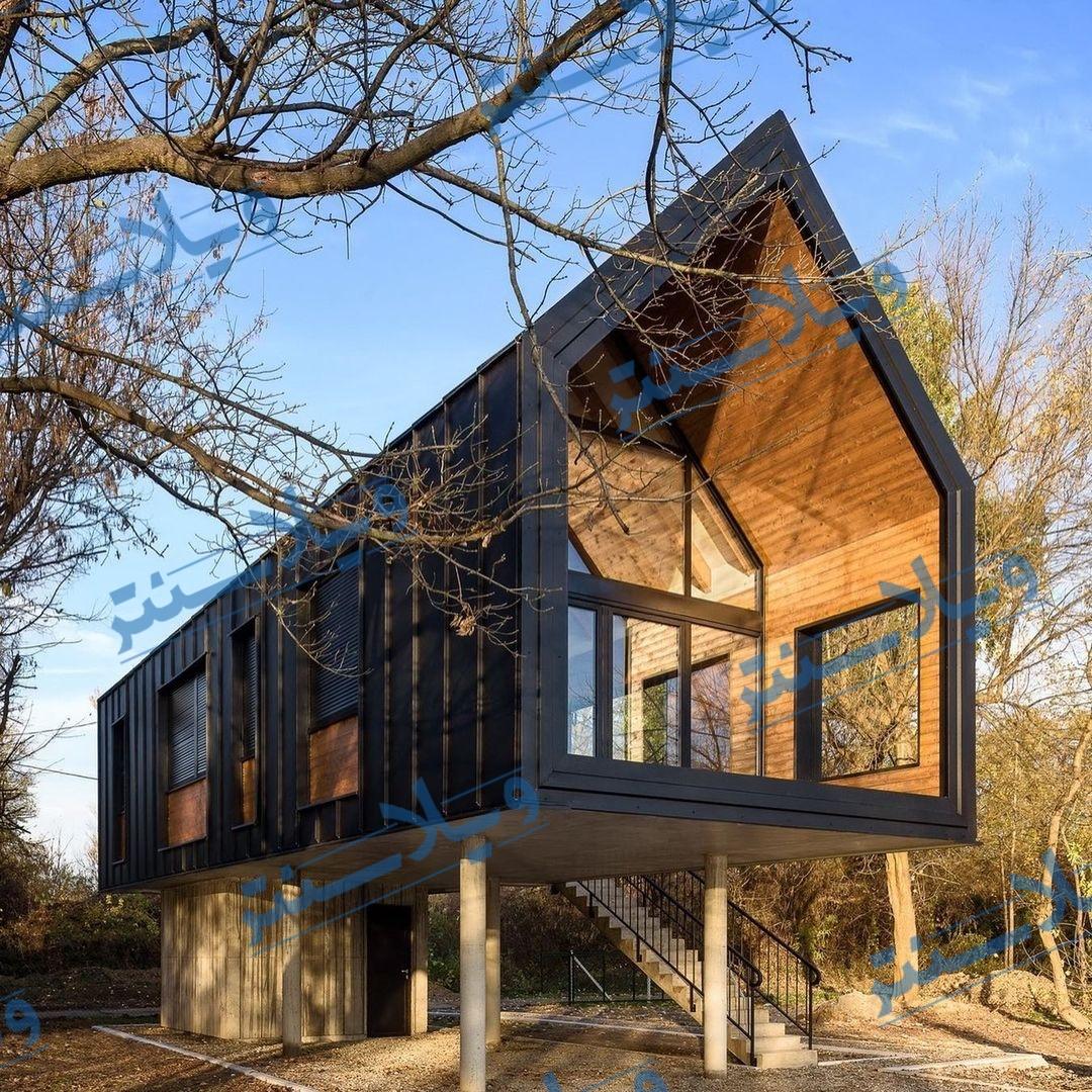 ویلا چوبی پیش ساخته مقاوم در برابر شرایط جوی